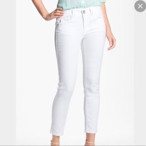 Wit and Wisdom White Skinny Ankle Jeans Size 10